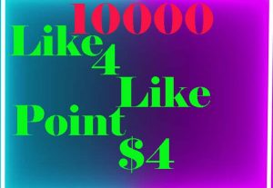 10000 like 4 like point super fast delivery only