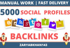 I will build and index 5000 social networks profiles backlinks