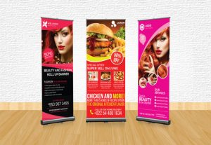 I will design creative roller banner for your business