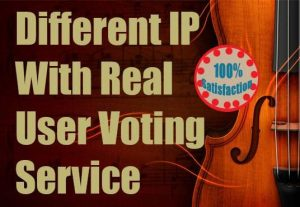 Provide 150 Different IP Votes Towards On Your Online Voting Contest, Poll for $5
