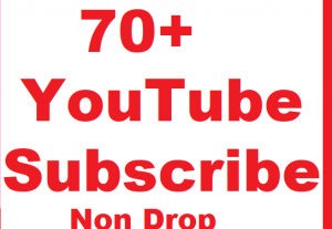 Non Drop 70+ YouTube Subscriber Give You Fast