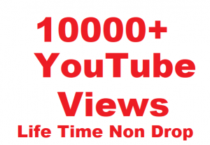 Non Drop 10000+ YouTube Video Views Give You only