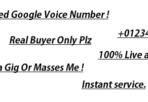 Google 5 voice Numb Service for your post