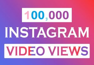 High Quality 100K Fast Instagram Video Views up to 10 Million