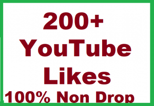 200+ YouTube Video Likes Non Drop Give You
