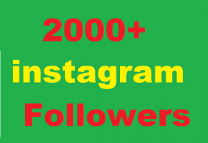 2000+ Instagram Followers Give You