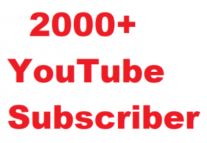 2000+ YouTube Subscriber Give You