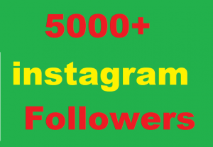 5000+ Instagram Followers Give You