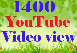 1300 YouTube Video Views Promotion And Social Media Marketing super fast delivery
