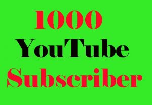 Get 1,000 High Quality YouTube Sub For Promotion