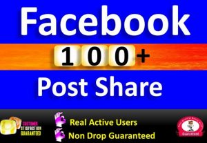 Get 100+ Post Share in Facebook, Real Active users Guaranteed