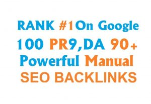 boost your google rankings with high pr quality live manual SEO backlinks