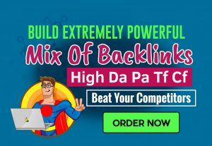 Help you rank with high authority mix of SEO backlinks