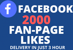 Get 2000+ FaceBook Fan-Page Likes 100% Real, Active and NoN-Drop