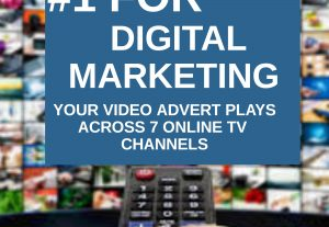 Promote your Advert on 3 online TV channels 300,000 people will view your video or Image Advert while watching.