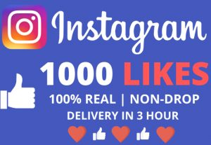 I Will Give You 1000+ Instagram Likes With Delivery In 3 Hour