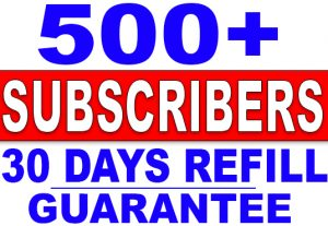 Get 500+ HQ YouTube SUBSCRIBERS | NoN_Drop | Fast delivery