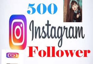 Real 500 Instagram follower from world wide user