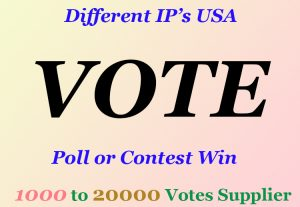 60+ Email Confirmation Different IP Vote for your Contest