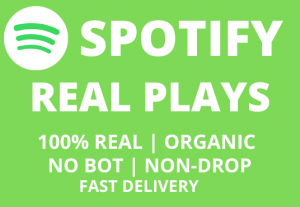 Get Real Organic Spotify Plays | Real Human | No-Bot  | Fast delivery