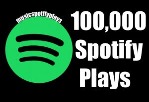 100,000 Real Spotify Plays Music Advertisement promotion