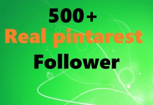 real 500 pinterest followers within very short time
