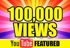 I Will Send 100, 000 YouTube Views To Your Profile And Rank Any Video First Page In 48 Hours