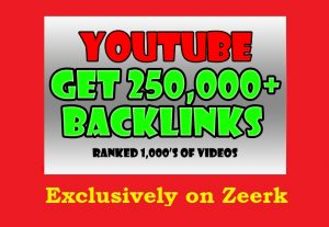 250,000 Backlinks and Embeds to your YouTube Video for SEO ranking