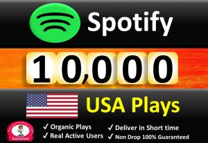 Get ORGANIC 10,000 to 15,000 Spotify Plays From USA , Real and Active Users , Permanent Guaranteed