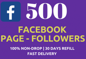 500 Instant Facebook Fan-Page Followers NoN-Drop Fast Delivery