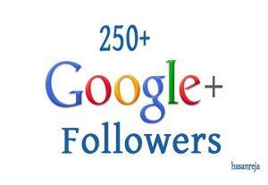 I will add google 250 followers
