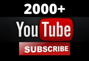 I Will Promote 2000+ YouTube-Subscriber in your Channel, Non Drop, Real Active Users Guaranteed