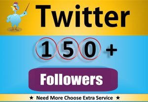 Get Organic 150+ Twitter Followers, Real, Active HQ Users Guaranteed (30 Days Refill Guarantee)