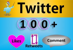 Get Organic 100+ Twitter LIkes or Retweets, Real, Active HQ Users Guaranteed (30 Days Refill Guarantee incase Drop)