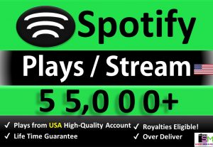 Get 55,000+ ORGANIC Plays From HQ USA Accounts, Real and Active Users, Stable Guaranteed.