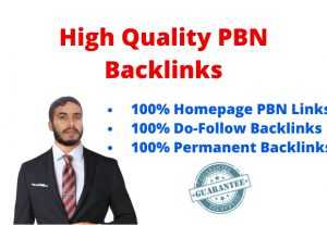 10 High PA DA TF CF Homepage PBN Dofollow Backlinks For your website