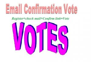 I will provide 100 registration email confirm votes
