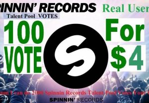 Provide 100 Spinnin Records Talent Pool Votes from real people around the worldwide