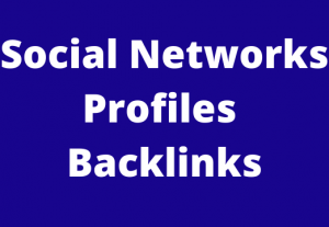 100 Social Networks Profiles Backlinks Very High Indexer