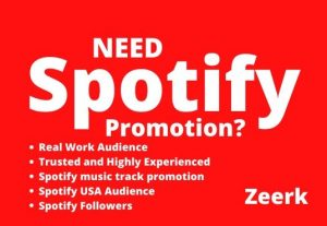 I will do massive spotify promotion to real and active audience
