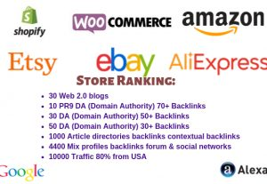 I Can rank your Store on Google High Quality Backlinks & High Quality Traffic