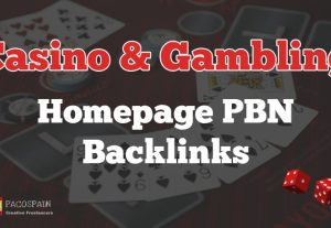 Casino & Gambling homepage PBN backlinks