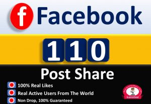 Get 200+ Post Share in Facebook, Real Active users, Non Drop Guaranteed