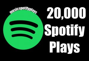 20,000 Real Spotify Plays Music Advertisement promotion