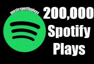 200,000 Real Spotify Plays Music Advertisement promotion