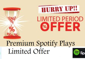 I will give 5k spotify premium track plays Non Drop -Royalty Eligible-Limited offer