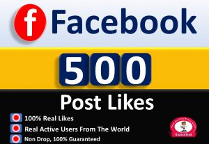 Get 500+ Post Picture & Video Likes in Facebook Fan Page, Real Active users Guaranteed