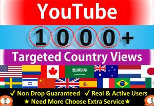 Get 1000+ YouTube Views, Targeted Country USA, Canada, Netherland, Italy and More Country Non Drop Guaranteed