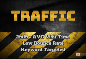 Low Bounce Rate Traffic, Long Duration, Keyword Targeted