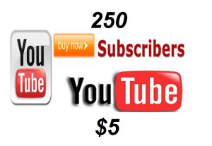 Give you 250 subscribers on your Youtube channel Real Active Users Guaranteed